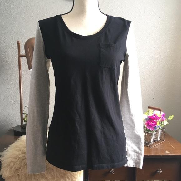 5f669311 Tommy Hilfiger Tops | Colorblock Stripe Pocket Tee Shirt | Poshmark